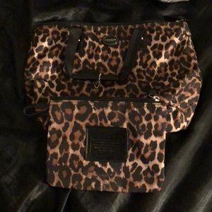 Coach makeup bag set